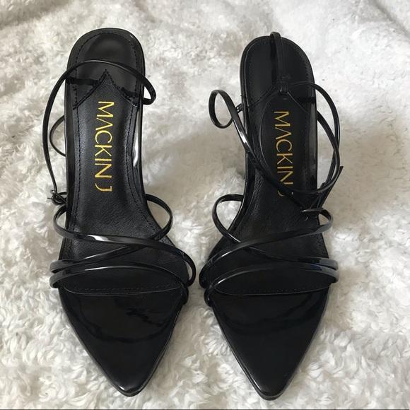 Mackin J Shoes - 3 LEFT!! Black Pointed Toe Heel